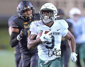 Kenneth Walker III Michigan State football signed autograph 8x10 photo star RB L