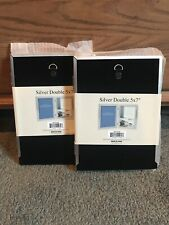 NEW 5x7 Silver Double Picture Frames
