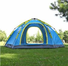 6 8 Person Quick Open Camping Tent Dome 2 Door 4 Windows Anti-UV 305x240x145cm