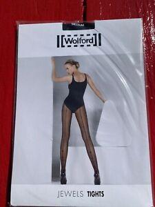 Wolford Black Fancy SEAM Tights Halloween Size Medium NEW High Heel Pantyhose
