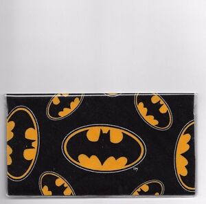 BATMAN CHECKBOOK COVER FABRIC BATMAN SIGN