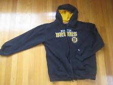 Boston Bruins SWEATSHIRT hoodie zip shirt retro vtg top hockey YL L youth large