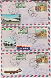 ITALY 1978 *VICENZA IX RADUNO NAZIONALE AVIATORI D'ITALIA* 3x home make covers