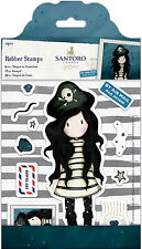 Docrafts urban rubber stamp set Santoros Gorjuss Postal Collection PIRACY pirate