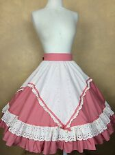 Square Dance Skirt Vintage Coral & Ivory Eyelet  by The Dance Store
