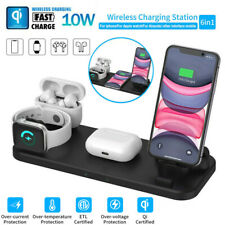 6 in 1 Wireless Charger Qi Fast Charging Station for iPhone 11/11pro/X/XS/XR/8