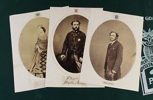 1859-62 early albumen photographs THREE aristocratic portraits ANGLO-Irish album