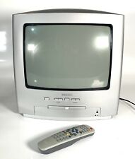 Retro Cubo Philips 14 pulgadas CRT TV y DVD Player Combi Combo Con Control Remoto