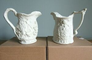 PAIR OF PORTMEIRION  BRITISH HERITAGE COLLECTION PORCELAIN PARIAN WARE JUGS