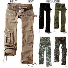 Cotton Blend Cargos Loose Fit Trousers for Women