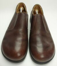 HIGHLANDER Air Weight Leather  Loafer Slip-on Brown Shoes Size 11.5 (45)