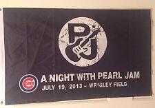 Pearl Jam, Eddie Vedder Chicago Cubs Pj Flag Wrigley Field 2013, Banner / Poster