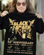 BLACK SABBATH FANS 50TH ANNIVERSARY THANK YOU FOR THE MEMORIES SIGNATURE BLACK T