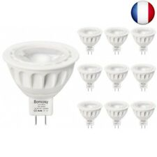 Bomcosy Lot de 10 MR16 Ampoules LED 5W GU5.3 12V  (Blanc Froid 6000k, Lot de 10)