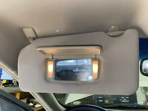 2013 2014 NISSAN MAXIMA Left Driver Sun Visor Shade w/ Mirror & Lights, GRAY