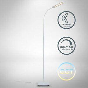 LED Piantana Dimmerabile Cct Piantana Orientabile Memory & Funzione Touch Bianco