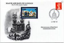 La segunda guerra mundial 1941 London Blitz-Grandes Luftwaffe cubierta de sello de RAID (GB/Danbury Mint)