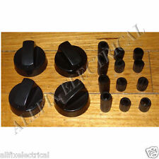 Handy Gas or Electric Stove Black Control Knob Kit (Pkt 4) - Part No. KNB35K