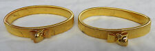 Pair of Gold Metal Shirt Sleeve Arm Bands / Sleeve Holders - with Bows & Hearts