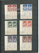 TUNISIE N°396 A 401 EN PAIRE BORD DE FEUILLE