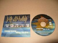 Def Leppard Long Long Way To Go cd Single Promo 2002 Ex Condition Rare
