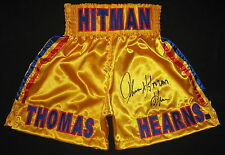 """Thomas """"Hitman"""" Hearns Autographed Signed Boxing Trunks ASI Proof"""