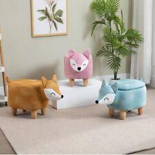 Animal footstool storage baby nursery ottoman pouffe footrest low seat kids bed