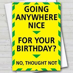 Funny Birthday Card - Warning Card Boris Virus Isolation Joke Lockdown - UK Fast