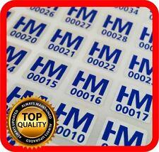 Your blue print on 3000 hologram labels void warranty tamper seal 10x10mm