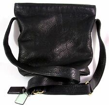 Vtg Coach Black Pebble Leather Shoulder Purse/Crossover J7M 4907 Mid 80's