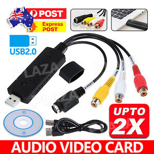 USB 2.0 video audio capture RCA adapter VHS to DVD HDD TV Converter card win 10