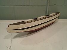 Vintage Wood Ship Hull Sail Boat Pond Boat Model Ship Handcrafted 24in Custom