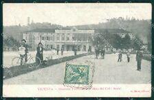 Vicenza Città Stazione PIEGHINA cartolina QK7574