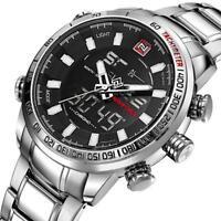 746| Montre-bracelet-homme-acier inoxydable-Chronographe-watch-montre-mode-luxe