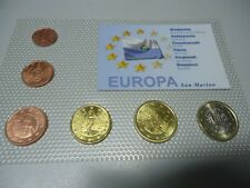 SAN MARINO 2006/2009 - KMS Kursmünzensatz mit 7 Münzen in stgl.