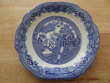 VINTAGE WEDGWOOD AND CO WILLOW PATTERN SANDWICH PLATE - BLUE / WHITE - 24.5cm