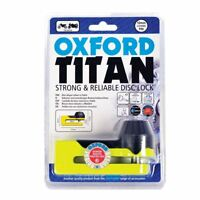 Oxford Motorcycle Bike Scooter Security Titan Disc Lock Yellow 10MM OF51
