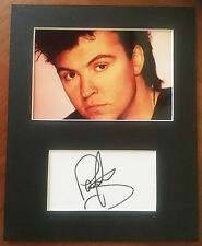 PAUL YOUNG HAND SIGNED Autograph Mounted With Photo 1980s SINGING STAR Q-Tips