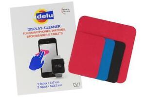 4 Stück Delu Display-Cleaner Bildschirm Reiniger Pads für Smartphone Tablet Uhr