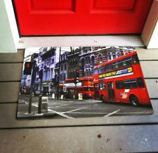 Anti Slip Non Skid Welcome 3D Rubber Door Mat Street View (Multicolor)