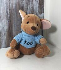 "Disney Parks Roo Winnie the Pooh Plush Stuffed Animal Blue Sweater 8"""