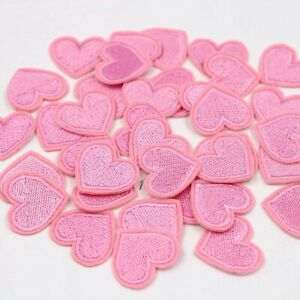 10Pcs Love Heart Iron-On Patches Cloth Embroidery Applique Badge DIY Hand Craft
