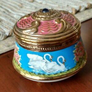 "Beautiful ""Swan Lake"" Trinket/Music Box"