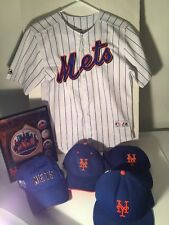 David Wright White/Royal New York Mets MAJESTIC Youth Jersey plus 3 caps LOT