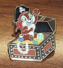 Disney Chipmunk in Treasure Box w/ Diamond 2007 Limited Edition Trading Pin!