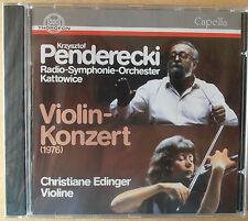 Krzysztof Penderecki - Violinkonzert - Christiane Edinger - CD neu & OVP