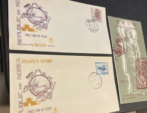 Korea FDC x2 + Leaflet