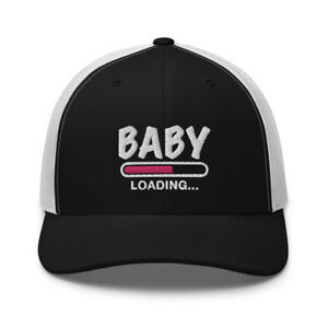 Baby Girl Pregnancy Announcement Mom To Be Embroidered Trucker Hat Clothes Gift