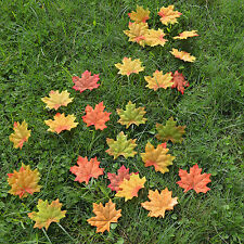 500 pcs 5 colors Fall Silk Leaves Wedding Favor Autumn Maple Leaf Decorations