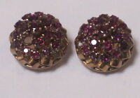 STUNNING NATURAL RUBY 18CT GOLD CLIP ON EARRINGS